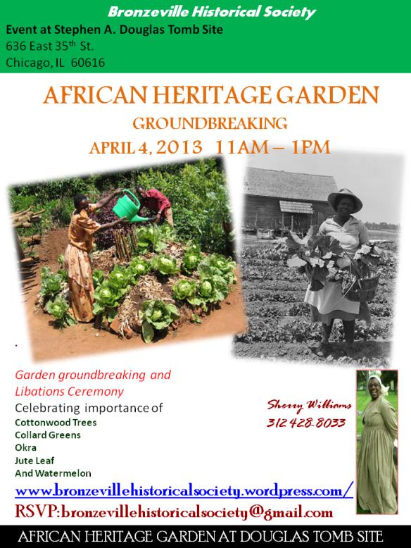 African Heritage Garden Opening 2013
